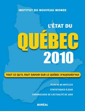 Vient de paraître > L'État du Québec 2010
