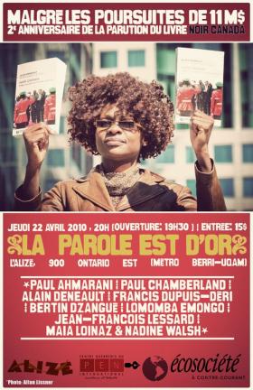 Événement > Anniversaire de la parution de 'Noir Canada' chez Écosociété