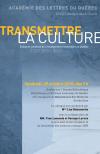 Colloque > Transmettre la culture; Enjeux et contenus de l'enseignement secondaire au Québec (vendredi 29 octobre 2010)