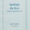 Vient de paraître > Robert Darnton : Apologie du livre