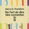 Harry G. Frankfurt : De l'art de dire des conneries