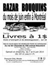 Bazar bouquins de François Côté (7 et 8 juin 2014)